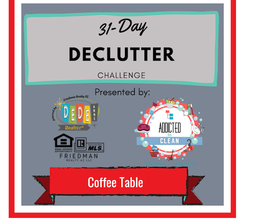 Coffee Table- 31 Day DeClutter Challenge- Day 5
