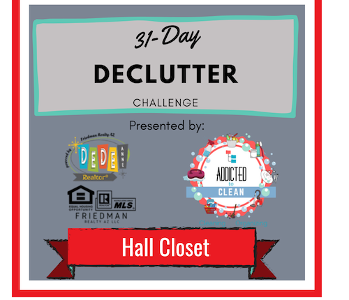 Day 2 of the 31-Day Declutter Challenge – Hall Closet