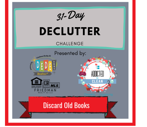 31-Day Declutter Challenge – Discard old books