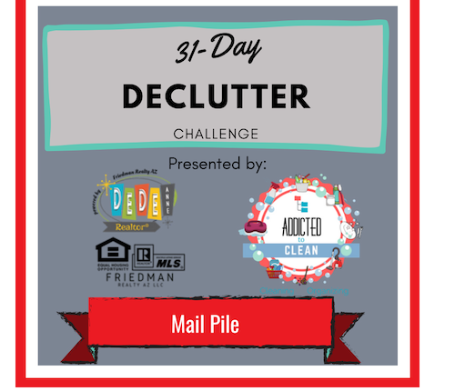 Clearing the mail – 31 Day Declutter Challenge