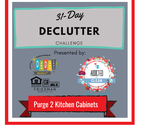 31-Day Declutter Challenge Day 7 Purge 2 kitchen cabinets
