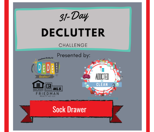 31 Day Declutter Challenge – Sock Drawer