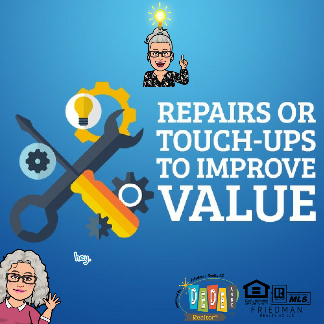 Repairs or Touch Ups to Improve Your Home's Value before you sell in the Phoenix area