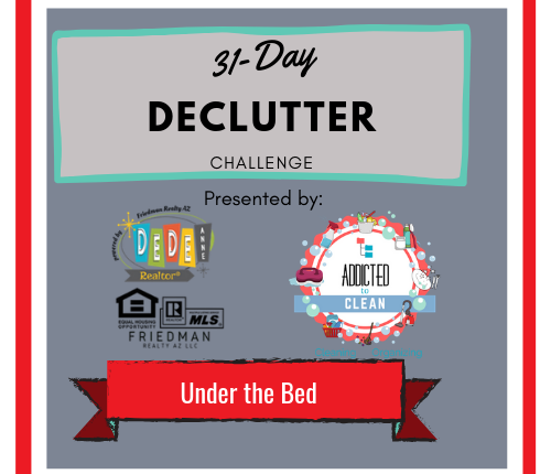 31-Day Declutter Challenge – Under the Bed…